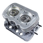 New dual port cylinder heads for VW 043101355CK 98-3856B New complete replacement dual port cylinder head for VW Volkswagen bug, super beetle, karmann ghia, and bus. 35x32 forged steel valves. 14 mm spark plug hole.