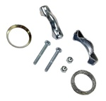 111298051 German muffler clamps for VW Volkswagen type 1 engines 13-1600 cc. Stock muffler tip clamps for VW Volkswagen. This also fit heater boxes or J tubes to muffler or headers.  Requires 4 for stock mufflers with chrome tip peashooters muffler tips o