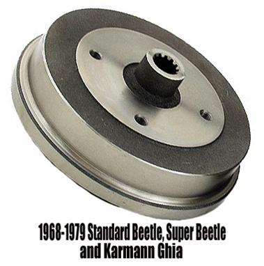 volkswagen beetle super beetle ghia rear brake drum