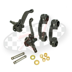 22-2950, 22-2951, 22-2858, 22-2859, New forged 2.5 inch dropped spindles are for VW Bugs and Volkswagen Karmann Ghias with link pin (1950-1965) or ball joint (1966-1977) front ends and are available in  dropped  drum or dropped disc brake.