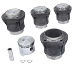 Mahle cast and forged graphite coated pistons and cylinders, 85.5mm, 87 mm, 88, 90.5, 92, 94, stock and stroker, A & B for VW Volkswagen.Mahle pistons and cylinder for VW Volkswagen have always been the engine builders choice when it comes to quality. The