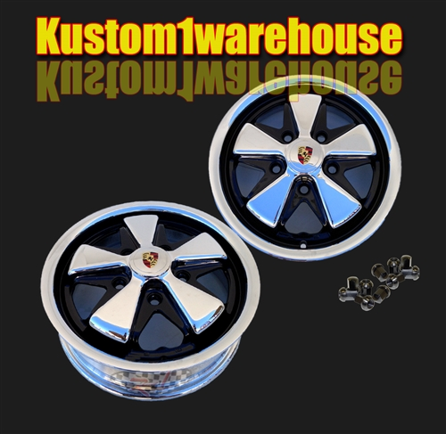 porsche style fuchs alloy wheels  vw volkswagen  originally