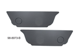 Empi 98-8973-B Black Rear Kick Panel Set For Standard VW Beetle 1960 To 1974 These Kick Panels Will Hide You Battery And Under-Seat Area. Panels Have Optional Cutout for Late Model Vehicles With Heater Ducts Under The Rear Seat. Application: 1960 Thru 197