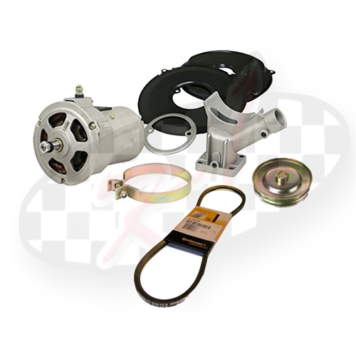 New polished and standard finish alternator conversion kits 55 amp, 75 amp,  95 amp for VW Volkswagen