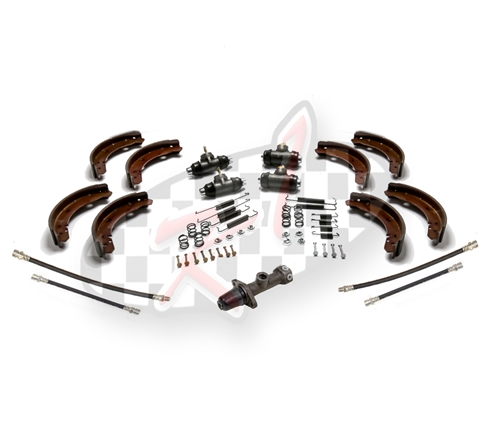 New Brake kit for 1958-1964 VW Volkswagen Bug and Karmann Ghia master,  wheel cylinders, hoses, shoes, spring hardware