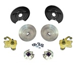 Ball joint spindle disc brake kit 4 on 130 wheel pattern VW Standard Beetle 1966-1977 and Karmann Ghia 22-2850, 22-2981, 22-2921 Porsche,Chevy, blank or VW wheel pattern.  4 on 130 VW Volkswagen, 5 on 130 Porsche, 5 on 4 3/4 Chevy lug bolt patterns