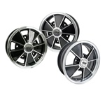 BRM Speedwell EMPI alloy wheels for VW Volkswagen 0726-5524, 0729-5524, 0722-5524, 9673, 9561, were first produced for Empi in the late 60's. Since its primal 60's version that was made of a magnesium alloy (they would never stayed polished and were prone