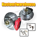 2.5 inch dropped lowered spindle disc brake kit 4 on 130 for VW Volkswagen 22-2881, 22-2882, 22-2923, 22-2886, 22-2887, 22-2924, Dropped front disc brake kit for VW Volkswagen. This is a disc brake kit with dropped 2.5 inch lowered spindles for ball joint