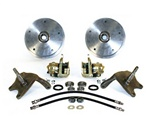 22-2925, 22-2926, VW Volkswagen, This is a disc brake kit with 2.5 inch dropped spindles for ball joint or king and link pin Standard Beetle 1947-1977 and Karmann Ghia (not Super Beetle). Get rid of those dinosaur front drum brakes and upgrade to the stop