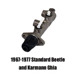 113611021c, 113611015bd, 113611015bh, 113611023b, 311611015j, 211611011j, A new replacement brake master cylinder is the heart of the VW Volkswagen brake system.  Late model master cylinders for VW are dual circuit, controlling the front and rear brakes i