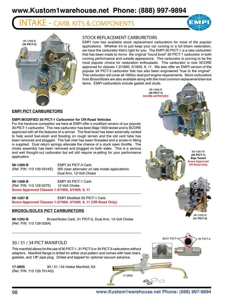 Carburador 30//31/pict 30pict 3/31pict 3/8115100600/a partir de a/ño 08//1967/nuevo