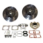 Rear disc brake kits for VW Volkswagen 22-2973, Rear disc brake kits  without emergency brake for VW Volkswagen 5 on 205 wide 5 VW pattern. For off road, play cars and vehicles where emergency brake provisions are not required. The unique rear 1 piece bra