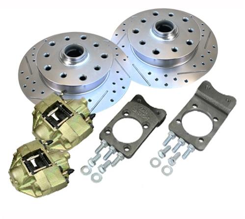 Super Beetle front disc brake conversion kit 4 on 130 VW Volkswagen, 5 on  130 Porsche, 5 on 4 3/4 Chevy wheel lug bolt patterns