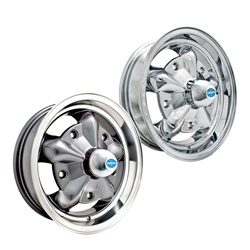 Chrome and painted with polished edge Torque star Empi alloy
