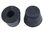 Urethane and stock suspension bump stops for VW Volkswagen.bump stop options: 111401273 Stock replacement front rubber snubber Link Pin, Pair, 16-5109-0 Urethane Front Snubber Link pin, Pr., B658600 Bugpack Urethane Front Snubber Link pin, Pr., 311501191