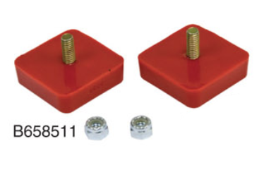 Pair 1964-1979 Red Type 2 Rear Suspension Bump Stop