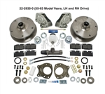 New Bus front disc brake kits, 5 on 205 VW Volkswagen lug bolt patterns for VW Volkswagen Bus, Camper, single cab, double cab, transporter 1955-1964, 1964-1967, 1968-1970. 22-2935, 