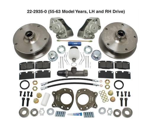 Bolt on Type 2 VW Volkswagen Bus Kombi front disc brake conversion kit
