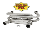 "Header GT style exhaust systems 1, 2 or 4 tip mufflers for VW Volkswagen. GT STYLE EXHAUST SYSTEMS European looks with Quiet Muffler featuring 1, 2 or 4 Chrome Exhaust Tips with built-in resonators for that unique ""GT"" sound. Complete with hardware and al"