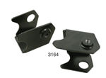 Irs conversion weld on pivot clips, bolts and washer for stock and custom torsion housing for VW Volkswagen. Convert any Swing Axle pan to I.R.S. with these clips. Welding required. 3164	I.R.S. Conversion Clips for stock VW torsion housing, Pair, Raw 16-9