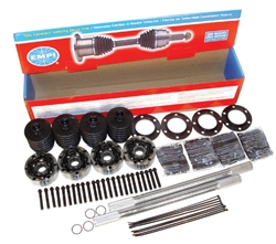 Empi chromoly 930 and Type 2 Irs axle kits, cv joint grease, 36mm axle nuts, axle spacers, chrome spring plate covers, axle seal kits for VW Volkswagen. EMPI CHROMOLY I.R.S. RACE AXLE Kits EMPI has taken the guess work out of putting together your high pe