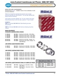 Standard and machined line bore engine case main bearings, standard and oversized thrust, OEM Mahle quality crankshaft bearings for VW Volkswagen motors. MAIN, ROD AND CAM BEARINGS Manufactured by MAHLE. Available in sizes to fit any combination of crank