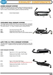 Econo exhaust system, tuck away dual exhaust, late type 2 & 4 exhaust for VW Volkswagen. ECONO EXHAUST SYSTEM Designed with adjustable slip joints on header pipes, this inexpensive system fits all Type 1 & 2 models including late 40HP, 1300-1600cc...any u