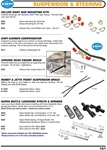 Suspension steering sway bars bushing, clamps, camber compensator, traction bar, Super beetle struts and springs for VW Volkswagen DELUXE SWAY BAR MOUNTING KITS Urethane Bushings with Stainless Steel T-Bolt type clamps. Fits both Ball Joint and Link Pin.