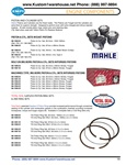 Mahle cast and forged graphite coated pistons and cylinders, 85.5mm, 87 mm, 88, 90.5, 92, 94, stock and stroker, A & B, Total seal rings for VW Volkswagen. PISTON AND CYLINDER SETS Mahle Pistons and Cylinders are the finest made. The Pistons are Forged an