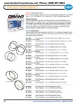 Grant chrome and standard piston ring sets for VW Volkswagen 85.5mm, 87mm, 88mm, 90.5mm, 92mm, 94mm. GRANT PISTON RING SETS All Grant piston rings are made in the U.S.A. Choose Cast top rings w/Chrome second ring or Chrome Top Rings w/Chrome second ring.