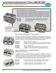 Empi performance cylinder heads with larger intake and exhaust ports, 3/4 reach 12mm spark plugs bosses, 40x35mm stainless valves, single and dual high rev springs, chromoly retainers for VW Volkswagen. EMPI PERFORMANCE CYLINDER HEADS EMPI Performance Hea