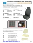 "Replacement VW Volkswagen Bug and Beetle sedan vinyl basket weave seat covers, front and back, top and bottom seat foam pads. VINYL SEAT COVERS (SLIP ON STYLE) Made from high quality vinyl our seat covers feature the original ""Basket Weave"" pattern. With"