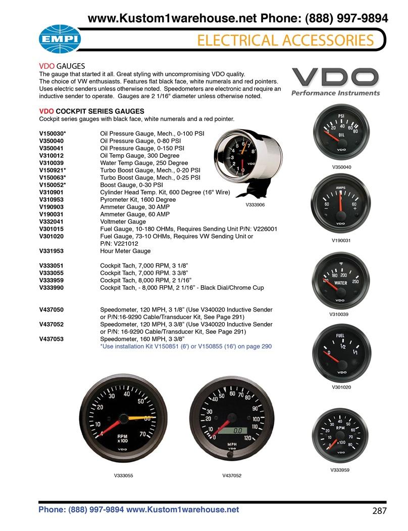 Vdo Cockpit Gauges  Oil Pressure  Oil And Water
