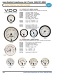 VDO Cockpit White and Royale series gauges, oil pressure, oil and water temperature, fuel, voltmeter meter, turbo boost, cylinder head temp, tachometer, speedometer for VW Volkswagen. VDO COCKPIT WHITE SERIES GAUGES Cockpit series gauges with white face,