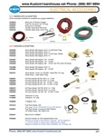 VDO wiring kits, oil and cylinder head temperature, oil pressure, fuel sending units and T adapters for VW Volkswagen. VDO WIRING KITS & ADAPTERS All the necessary hardware to complete your gauge installations. V240023 Wiring Kit, All Electric Gauges V240