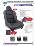 Empi race trim high back offroad suspension seats with black leather look vinyl w/carbon fiber look accents for VW Volkswagen. 62-2777 Black Leather Look Vinyl w/ Carbon Fiber Look Accents. Features:• New look and feel of leather with the durability of vi