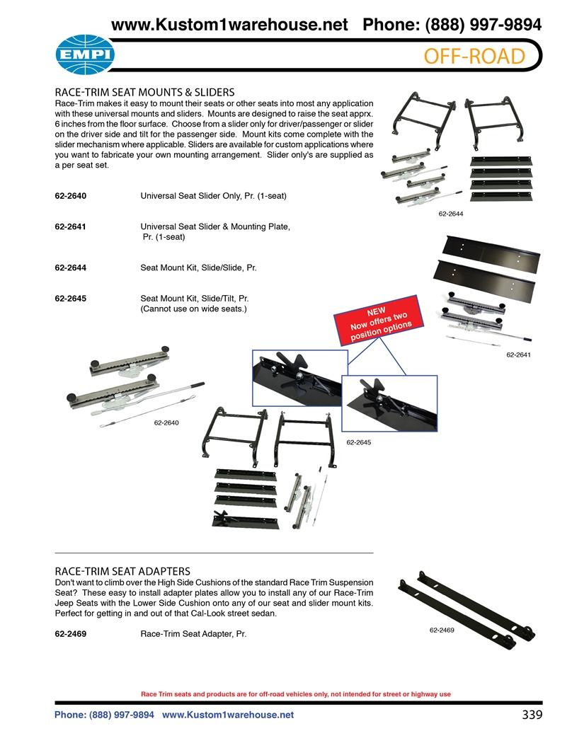 Universal Bench Seat Sliders