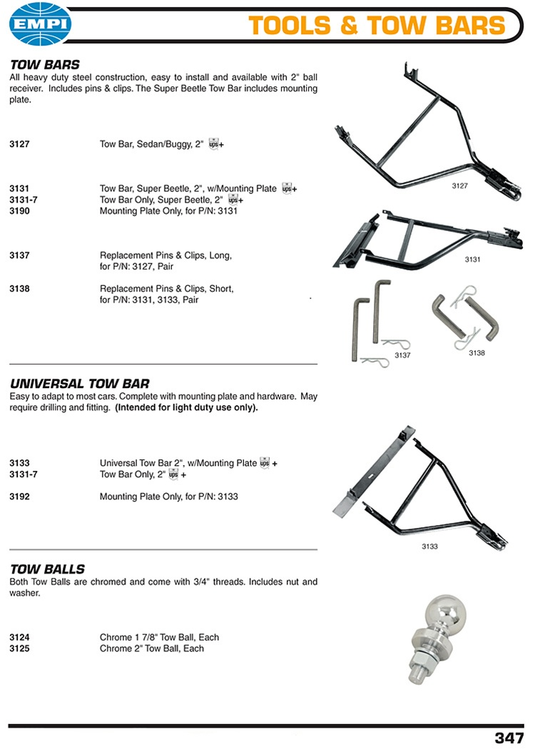 Tools And Tow Bars Pins And Hitch Balls For Vw Volkswagen