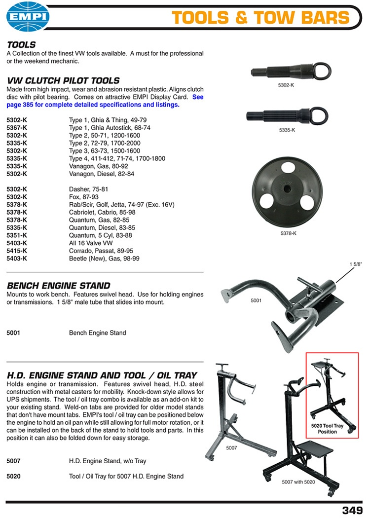 Clutch Alignment Tools Bench Mount And Knock Down Roller Engine Stands For Vw Volkswagen Tools