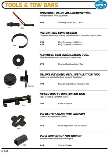 valve adjustment tool piston ring compressor flywheel