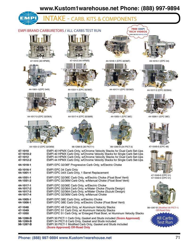 empi carburetors mm mm epc mm mm hpmx     epc progressive pict pict