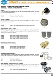 Empi Kadron Brosol Solex carburetor replacement floats, chokes, rebuild kits, and velocity stacks for VW Volkswagen. Service Items for EMPI 40mm & 44mm Brosol / Solex Carburetors (Continued) Float If your carburetors have brass floats, we now offer the up