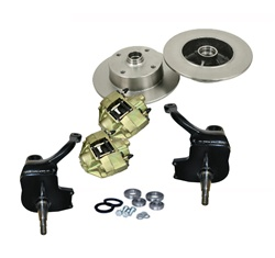 This is a 3inch lifted spindle front disc brake conversion kit for VW Volkswagen Standard Bug 1966-1977 (not Super Beetle). These 3 inch ball joint raised spindles are tig welded, not mig welded. This spindle also has a provision for speedometer cable. Th