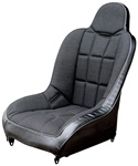 Empi race trim high back performance offroad racing suspension bucket seats black or grey vinyl, grey or tweed fabric for autos, trucks, boats  VW Volkswagen. prp mastercraft beard redart twisted stitch cheap procomp recaro rancho  aftermarket bds sparco