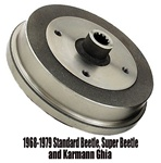 113501615D, 113501615J, Oem quality European made rear brake drums for VW Volkswagen TUV approved thing bug karmann ghia beetle super