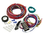 Universal wire harness with fuse box VW Volkswagen Buggy wiring harness 9466 Complete wiring kit includes 6 panel fuse box, fuses, wire, ends, fittings, electrical tape and instructions. Great for buggies, Kit cars and other special applications. wiring h