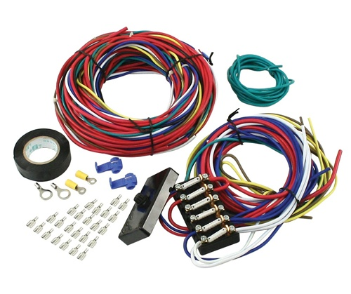 universal wire harness with fuse box vw volkswagen buggy wiring rh kustom1warehouse net