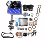 1600cc Engine Rebuild Kits for VW Volkswagen 85.5mm X 69mm 1600cc engine rebuild kits for VW Volkswagen include Mahle 85.5mm pistons and cylinders, rings, wrist pins, clips, rebuilt German forged stock 69mm crankshaft, rebuilt German rods, lifters, German