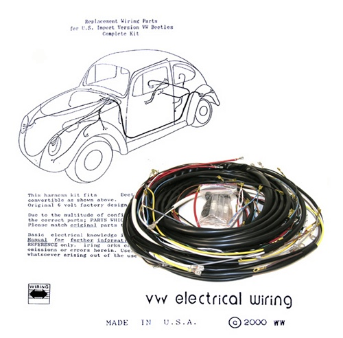 Wiring works Wiringworks VW Bug replacement wiring harness wire Volkswagen bus karmann ghia beetle super  sc 1 st  Kustom1Warehouse : factory wiring harness replacement - yogabreezes.com
