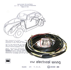 VW TYPE 1 BUG COMPLETE USA SPEC WIRING HARNESS 1958-1959 BEETLE SEDAN